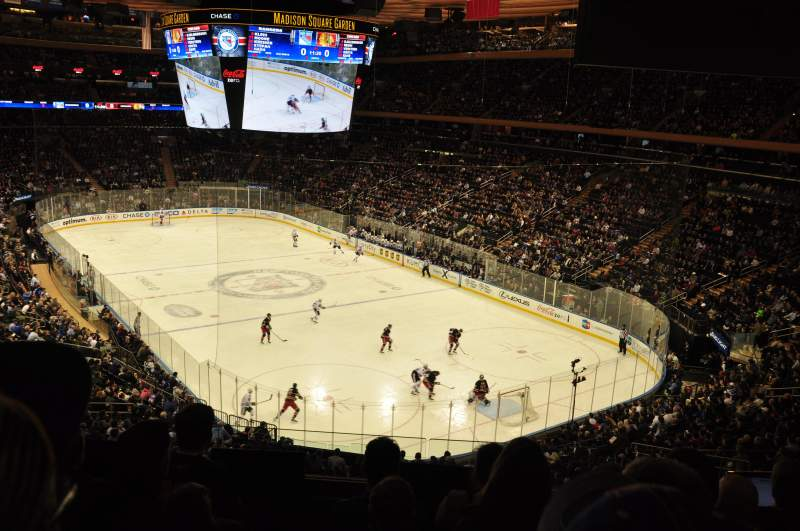 Seating view for Madison Square Garden Section 202 Row 5 Seat 3