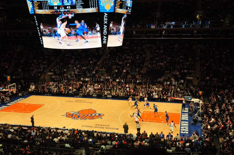Madison Square Garden Section 212 Home Of New York Rangers New York Knicks St John 39 S Red