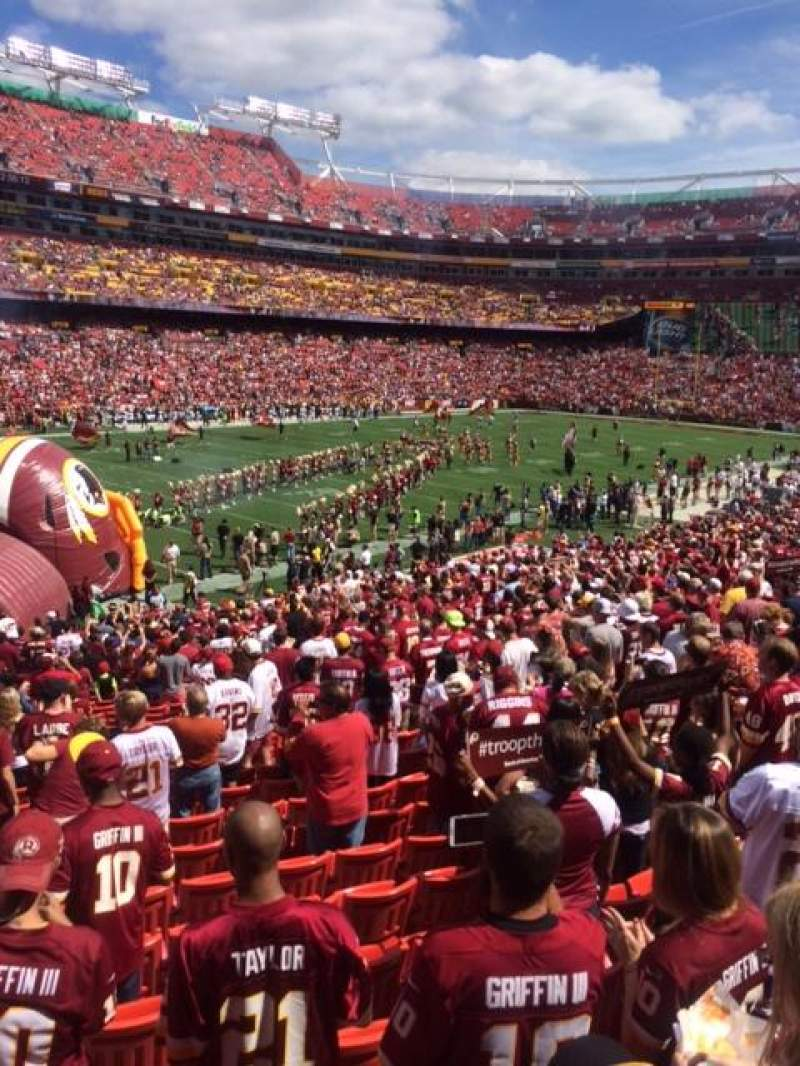 Seating view for FedEx Field Section 206 Row 1 Seat 11