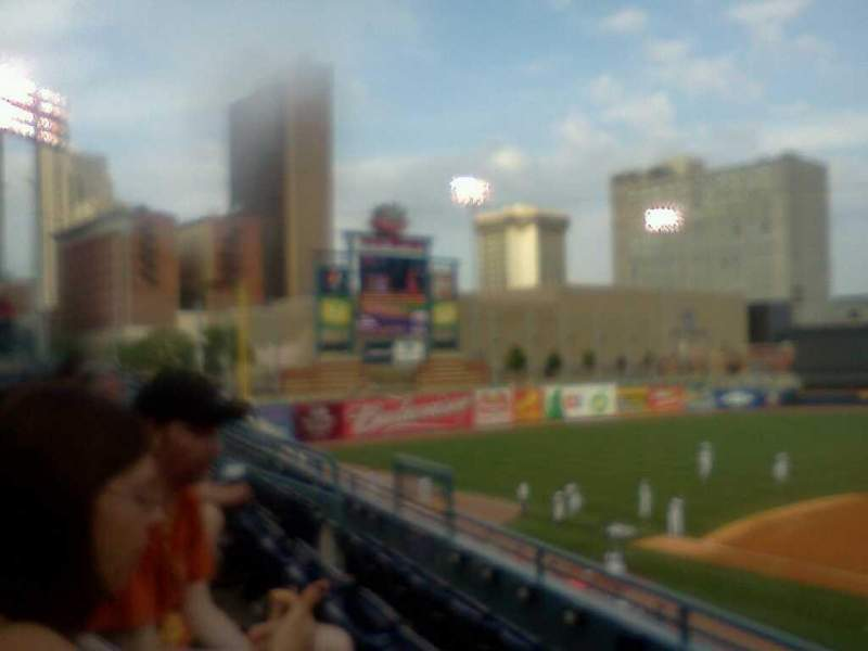 Seating view for Fifth Third Field Section 210 Row C Seat 14