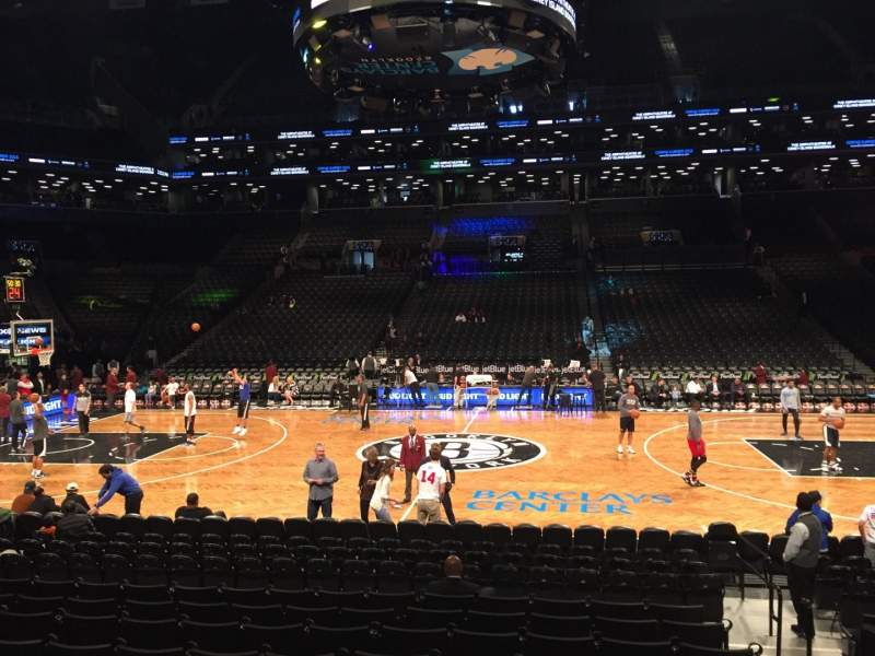 Seating view for Barclays Center Section 24 Row 15