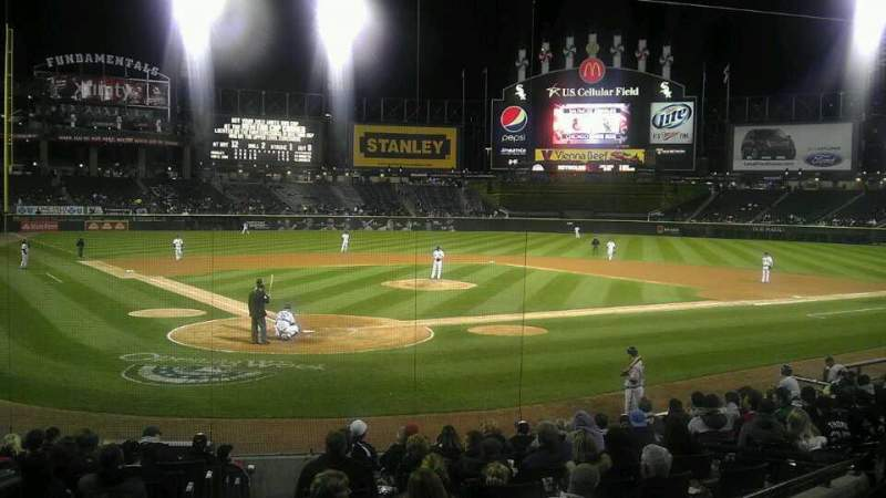 Seating view for Guaranteed Rate Field Section 130 Row 18 Seat 9