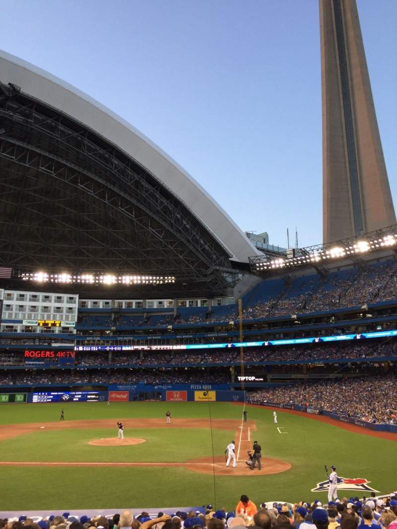 Seating view for Rogers Centre Section 124L Row 27 Seat 106