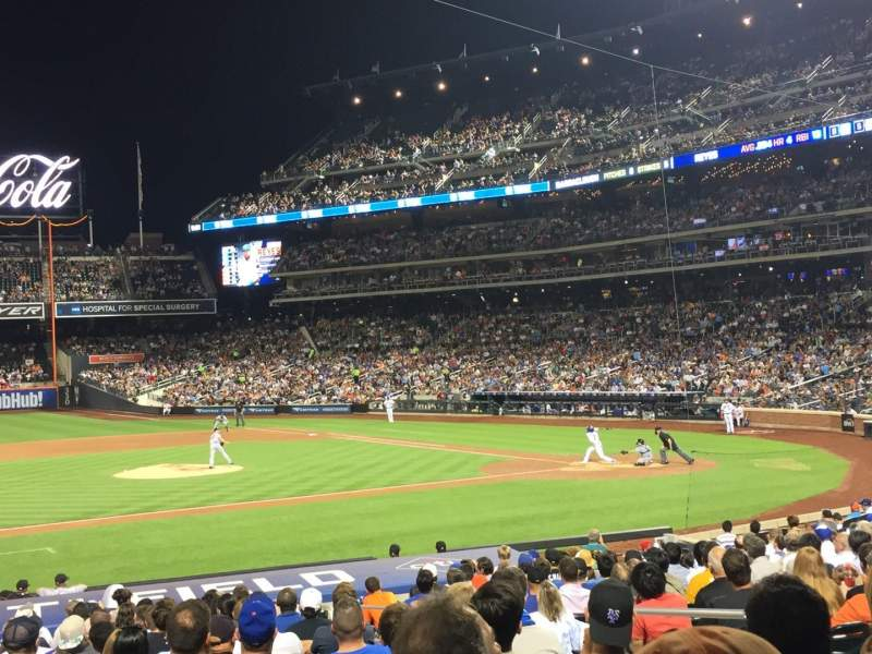 Seating view for Citi Field Section 122 Row 18 Seat 6