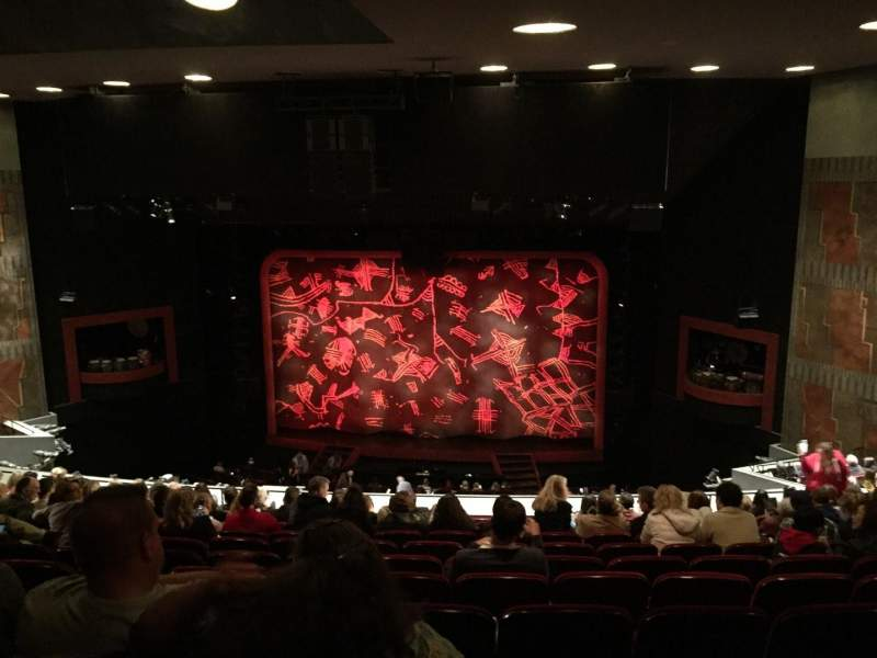 Seating view for Minskoff Theatre Section Mezzanine Row L Seat 139
