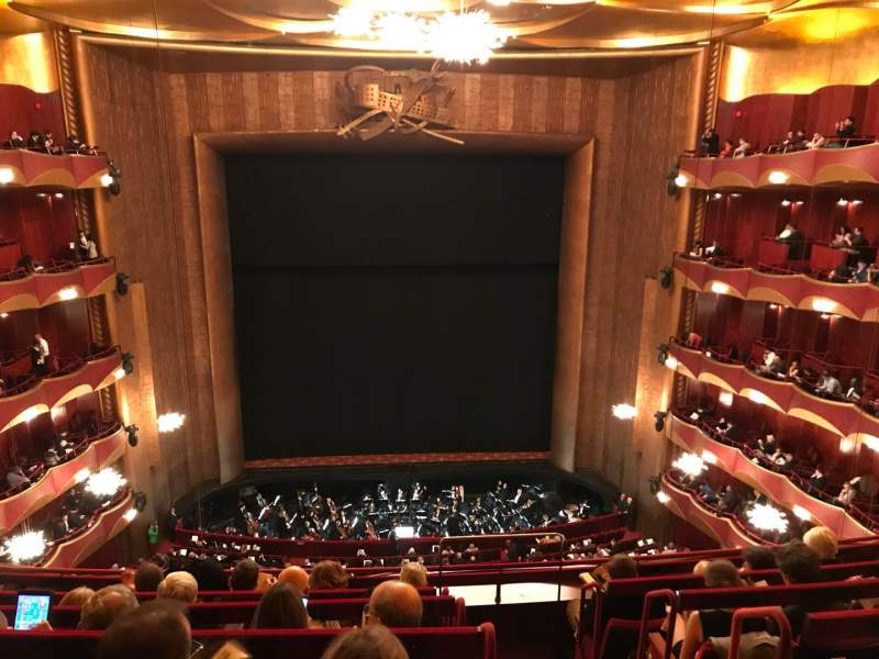 Seating view for Metropolitan Opera House - Lincoln Center Section Balcony Row F Seat 101