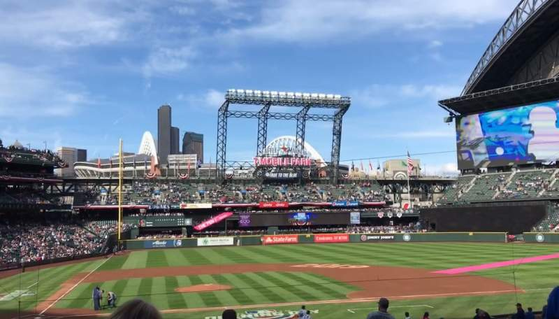 Seating view for T-Mobile Park Section 124 Row 31 Seat 8