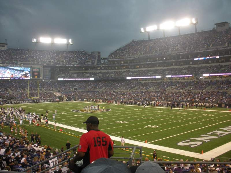 Seating view for M&T Bank Stadium Section 146 Row 24 Seat 10