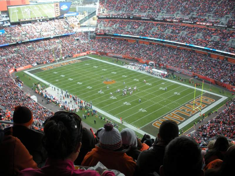 Seating view for FirstEnergy Stadium Section 541 Row 32 Seat 6