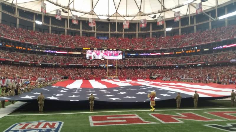 Georgia Dome, section: 127, row: 1, seat: 2