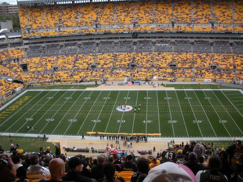 Heinz Field, section: 535, row: X, seat: 6