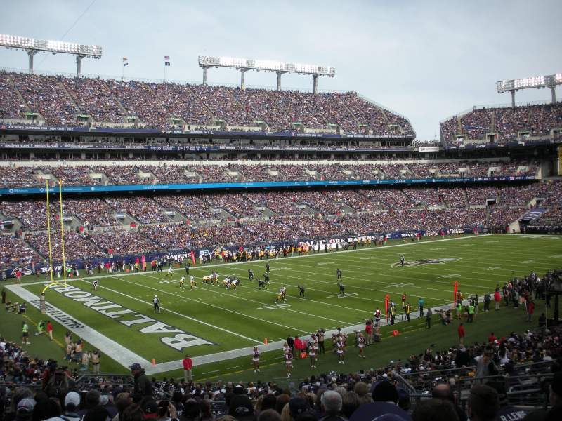Seating view for M&T Bank Stadium Section 133 Row 34 Seat 11