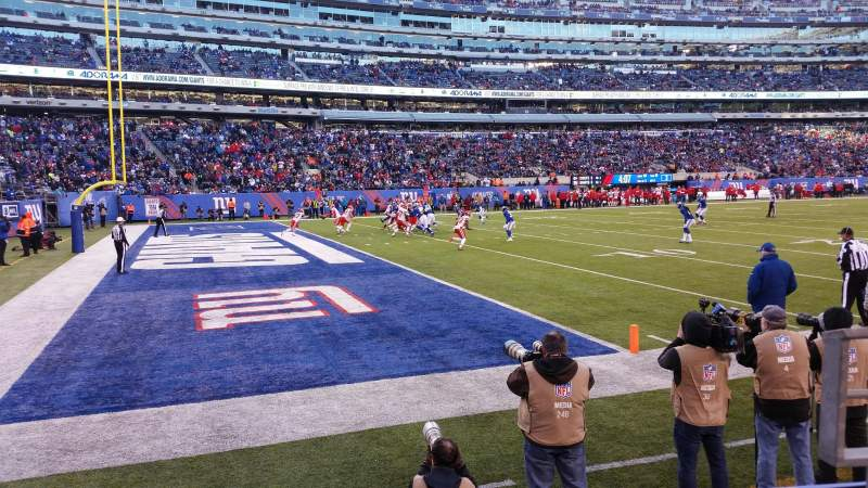 MetLife Stadium, section: 118, row: 2, seat: 2