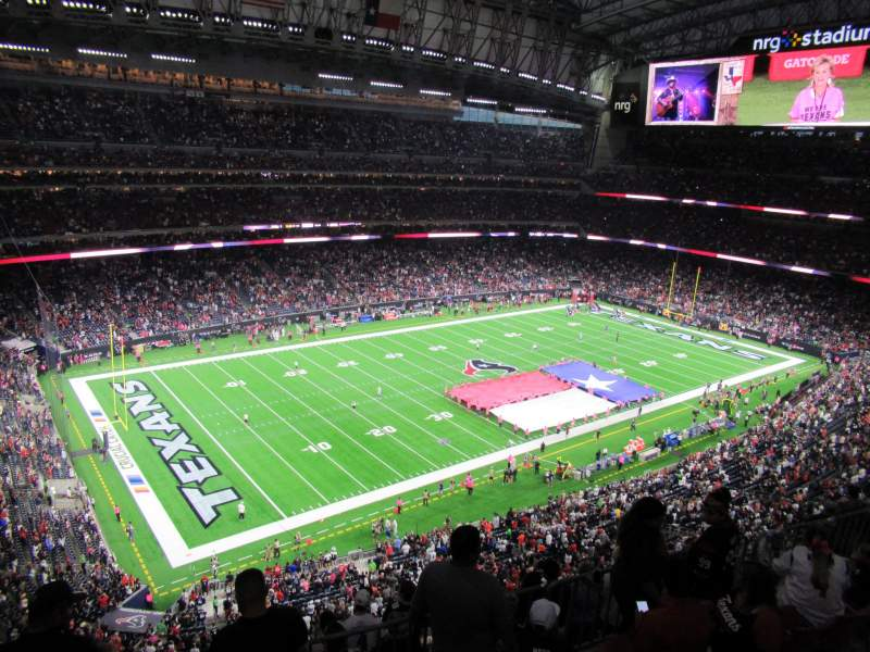 Seating view for NRG Stadium Section 640 Row A Seat 1