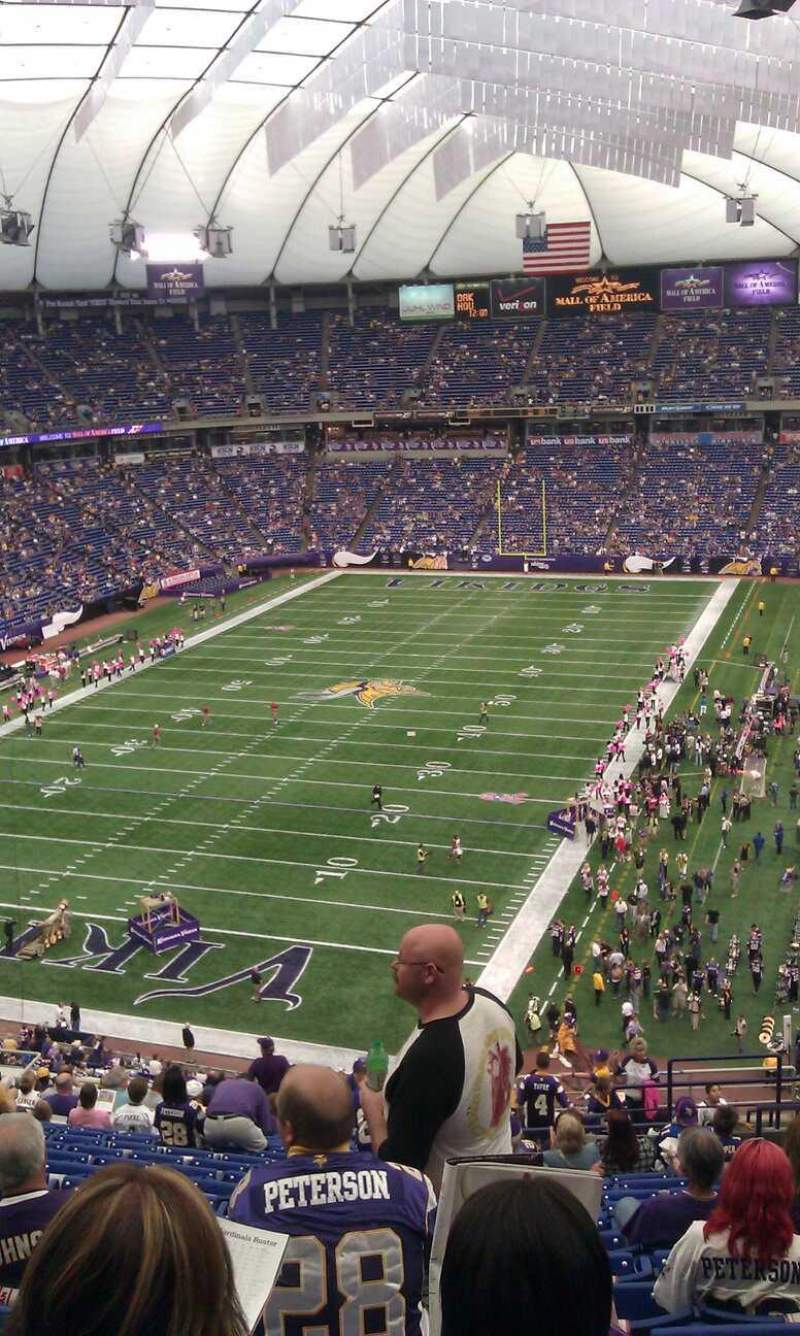Seating view for Mall of America Field Section 218 Row  21 Seat 5