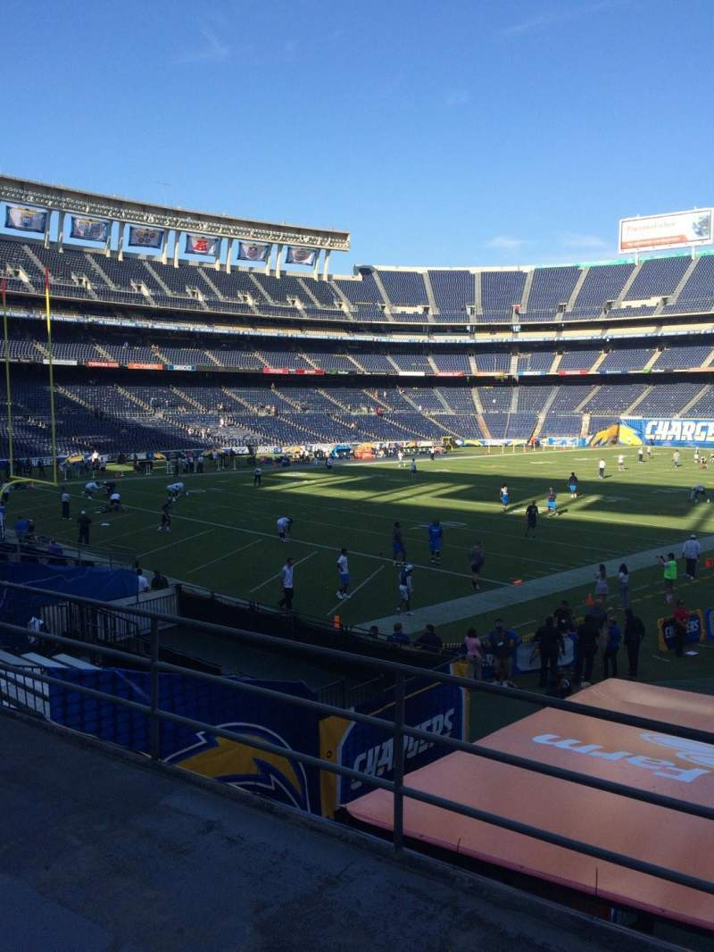 Seating view for Qualcomm Stadium Section P26 Row 3 Seat 1