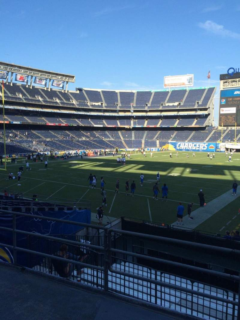 Seating view for Qualcomm Stadium Section P25 Row 3 Seat 1