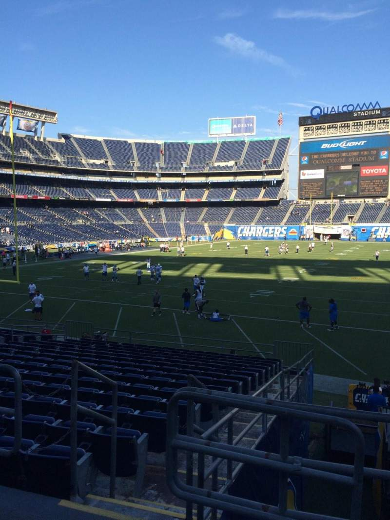 Seating view for Qualcomm Stadium Section P24 Row 1 Seat 1