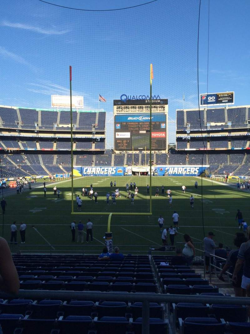 Seating view for Qualcomm Stadium Section P21 Row 1 Seat 14