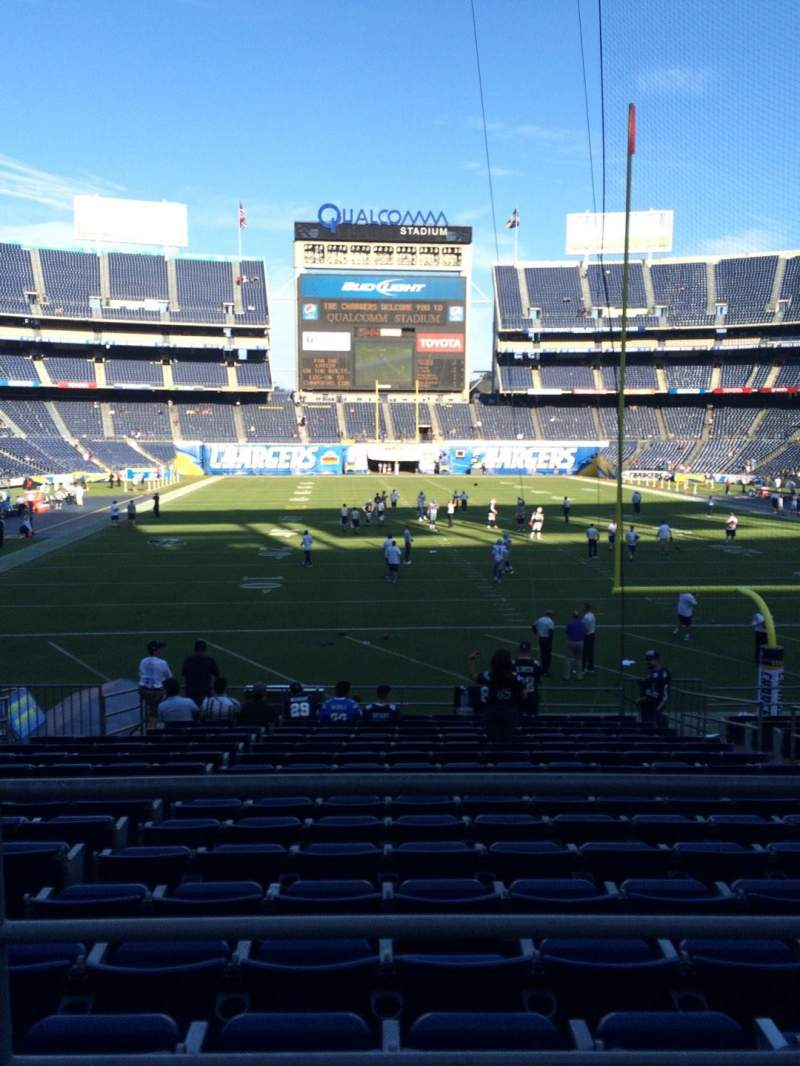 Seating view for Qualcomm Stadium Section P20 Row 1 Seat 9