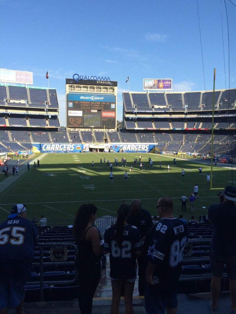 Seating view for Qualcomm Stadium Section P19 Row 4 Seat 16