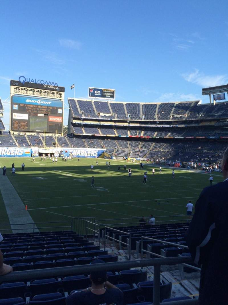 Seating view for Qualcomm Stadium Section P18 Row 1 Seat 10