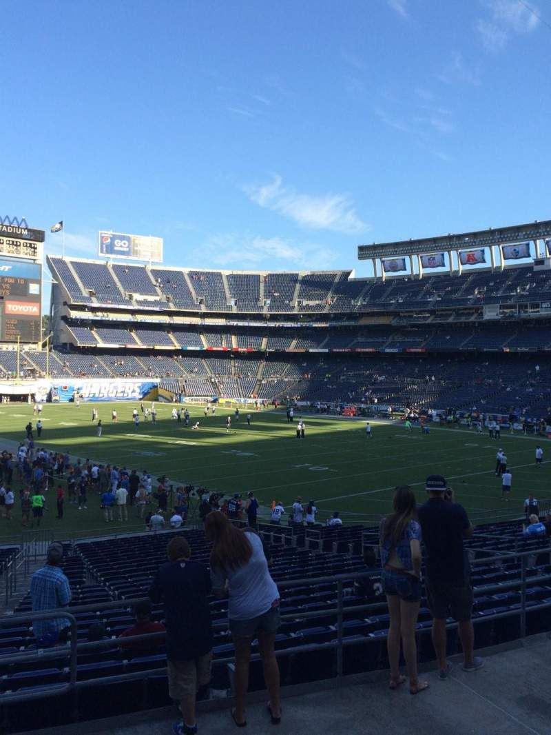 Seating view for Qualcomm Stadium Section P16 Row 5 Seat 3