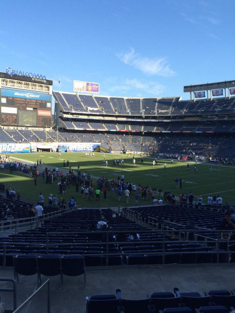 Seating view for Qualcomm Stadium Section P15 Row 7 Seat 1