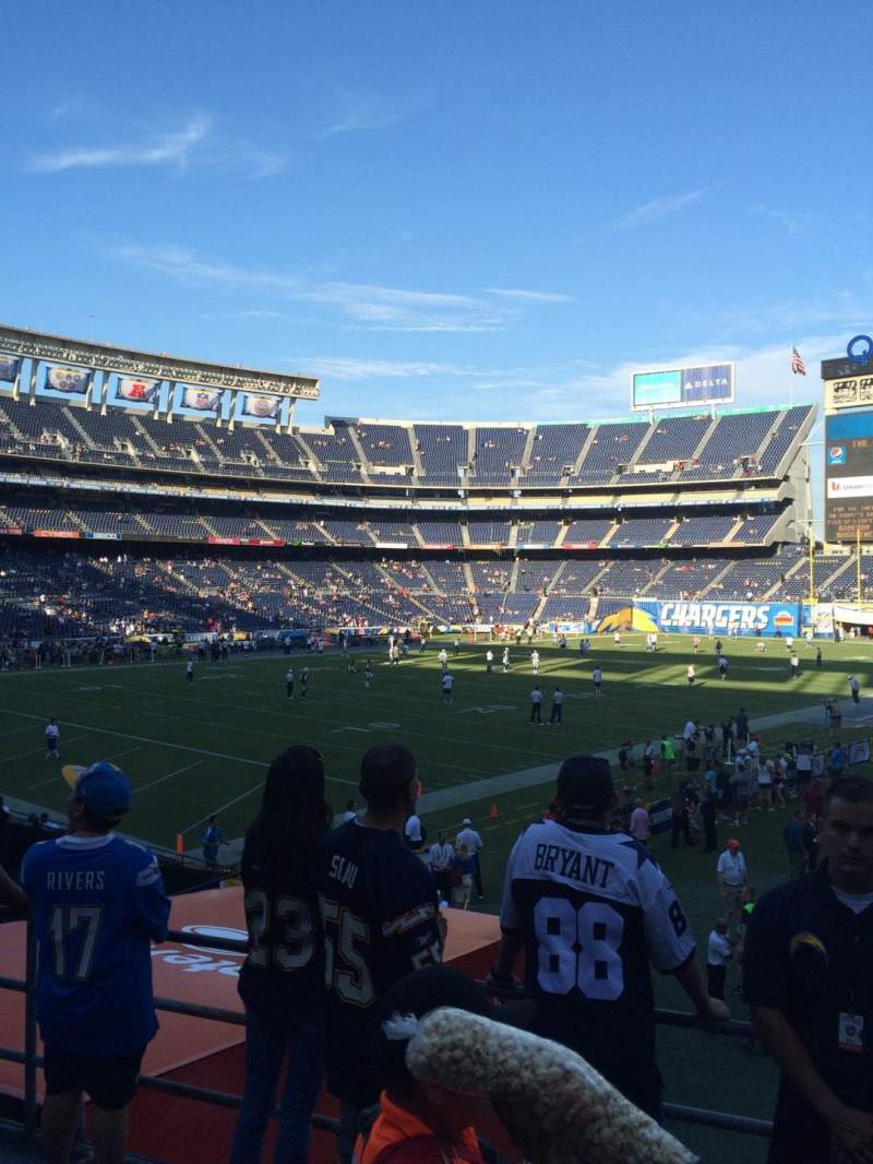 Seating view for Qualcomm Stadium Section P26 Row 3 Seat 9