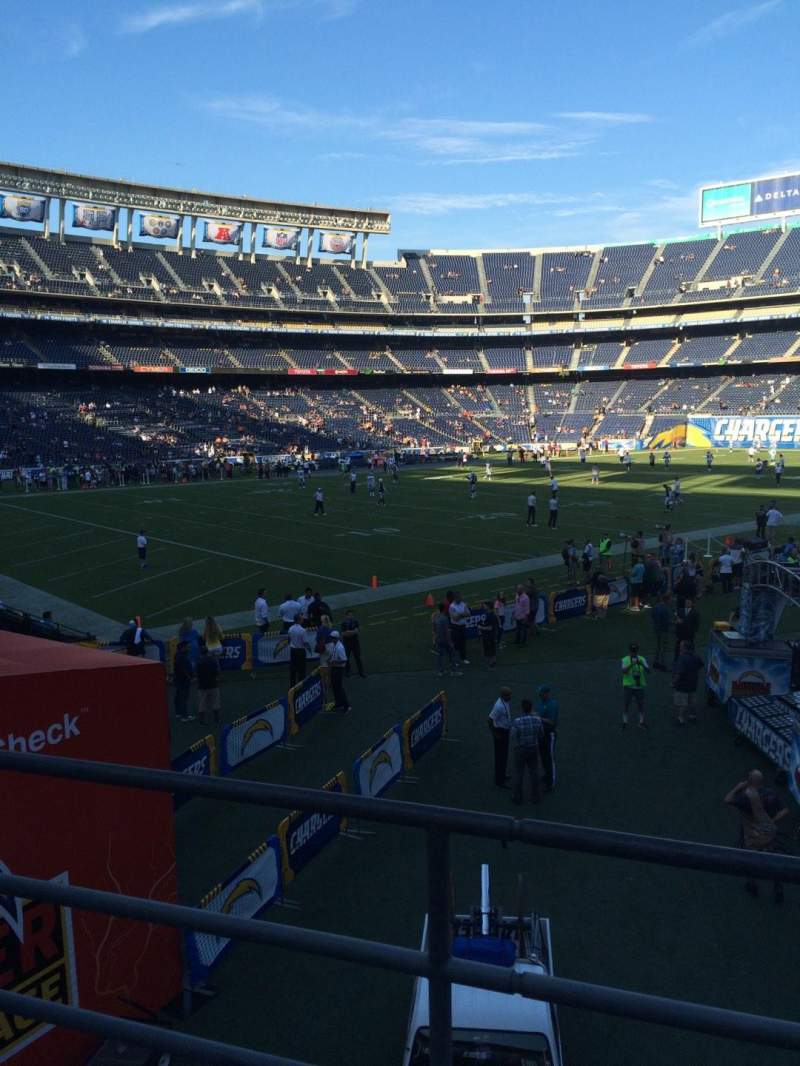 Seating view for Qualcomm Stadium Section P27 Row 1 Seat 7