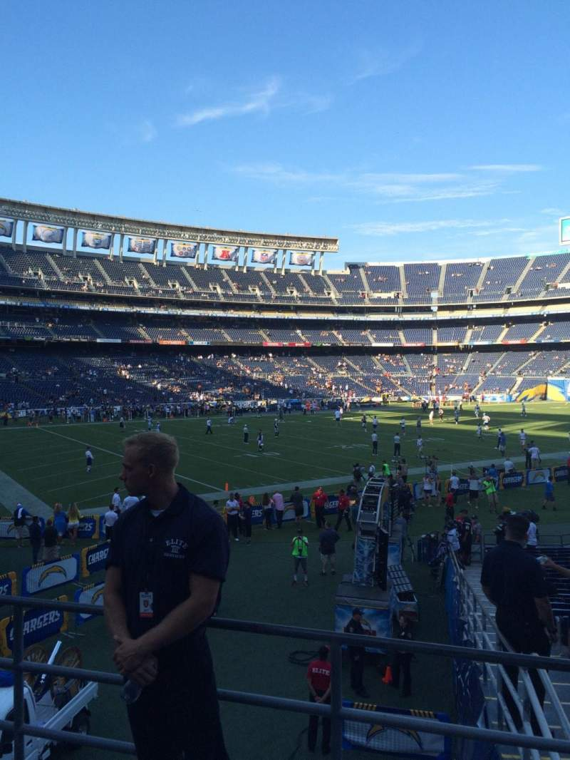 Seating view for Qualcomm Stadium Section P28 Row 2 Seat 9