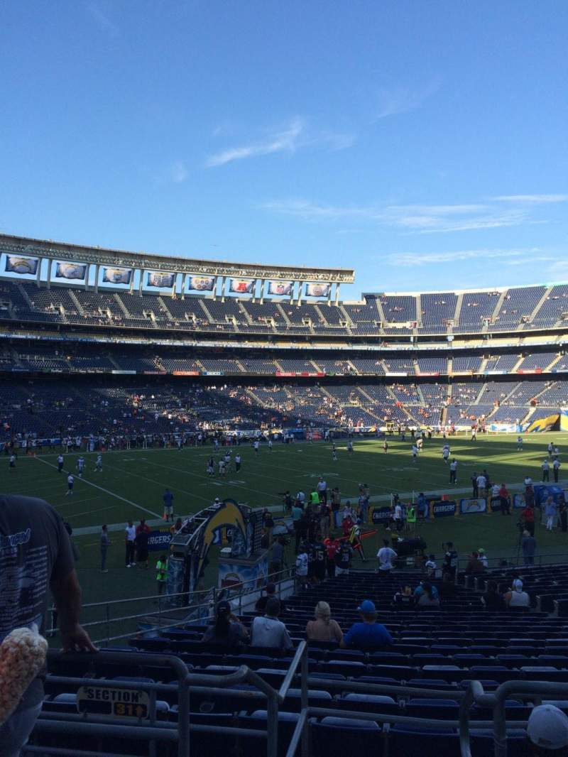Seating view for Qualcomm Stadium Section P29 Row 2 Seat 9