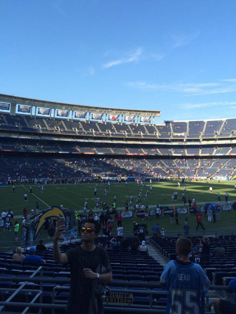 Seating view for Qualcomm Stadium Section P30 Row 3 Seat 8