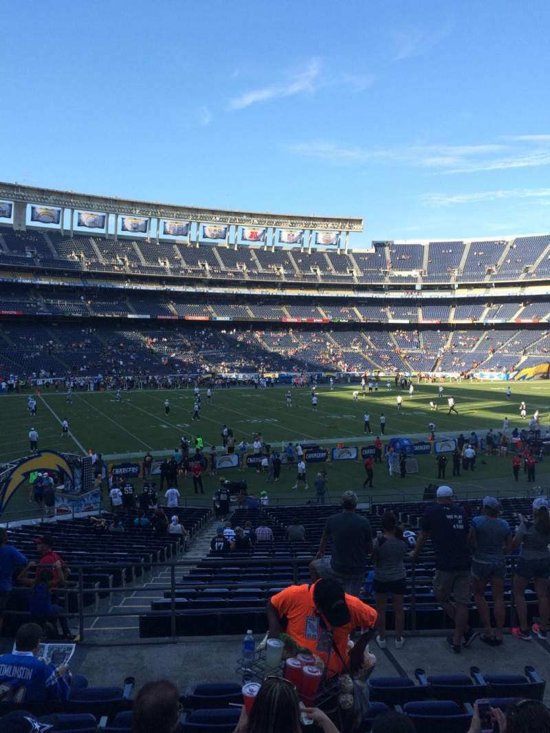 Seating view for Qualcomm Stadium Section P31 Row 8 Seat 5