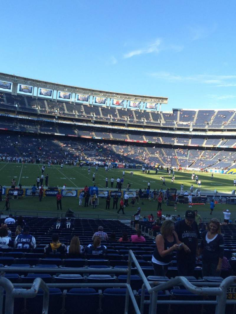 Seating view for Qualcomm Stadium Section P33 Row 1 Seat 3
