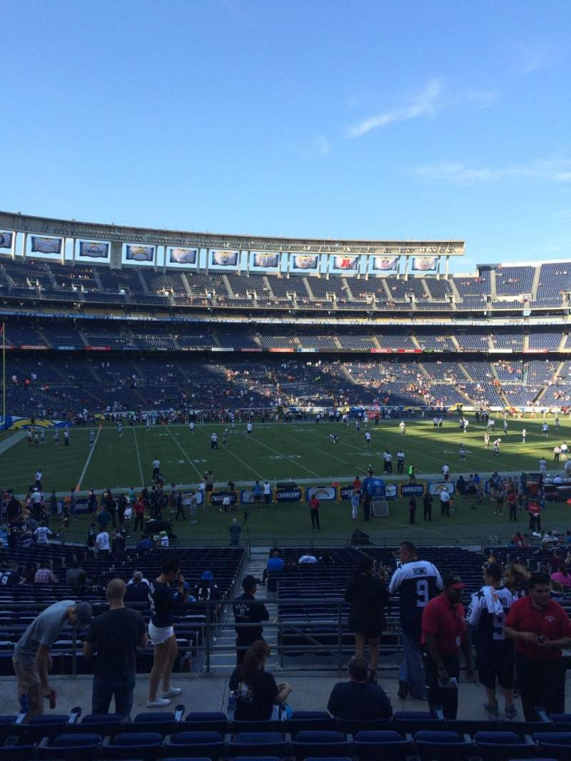 Seating view for Qualcomm Stadium Section P32 Row 9 Seat 12
