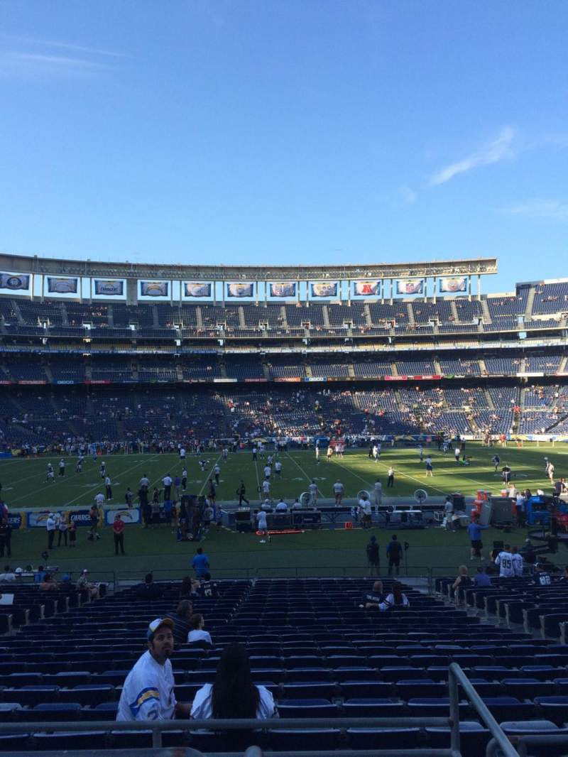 Seating view for Qualcomm Stadium Section P35 Row 1 Seat 11