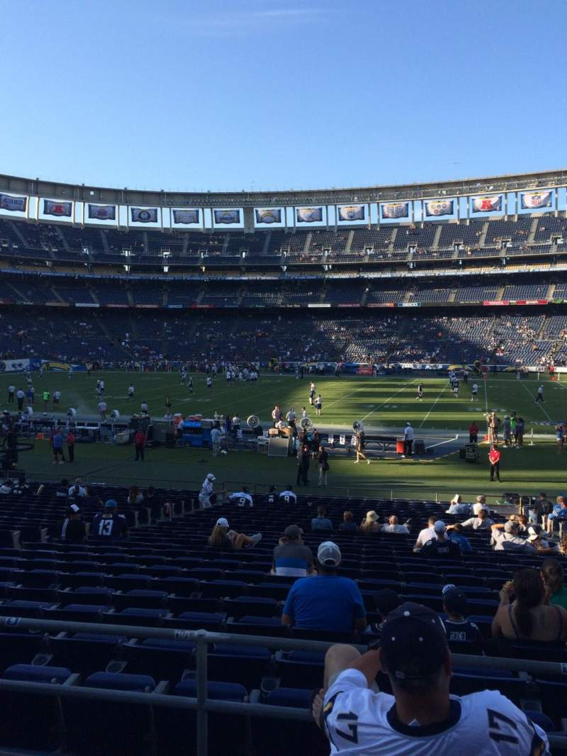 Seating view for Qualcomm Stadium Section P38 Row 1 Seat 6