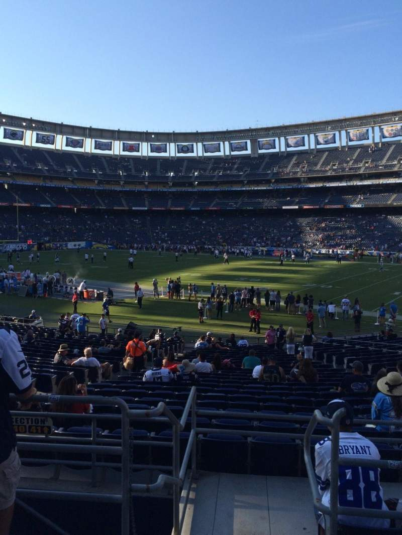 Seating view for Qualcomm Stadium Section P42 Row 1 Seat 8