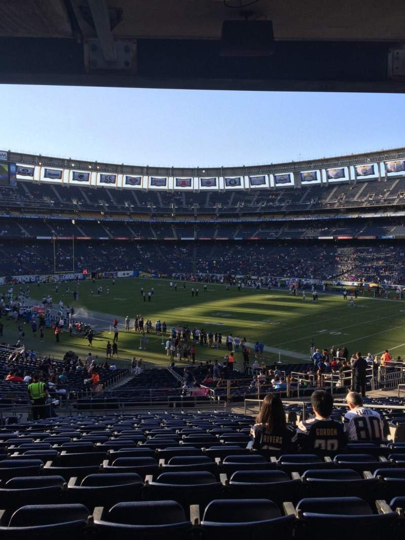 Seating view for Qualcomm Stadium Section P44 Row 19 Seat 9