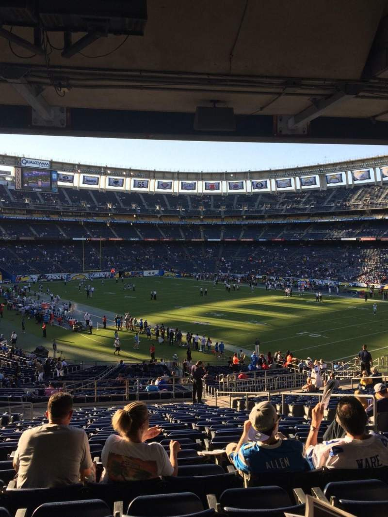 Seating view for Qualcomm Stadium Section P45 Row 20 Seat 8