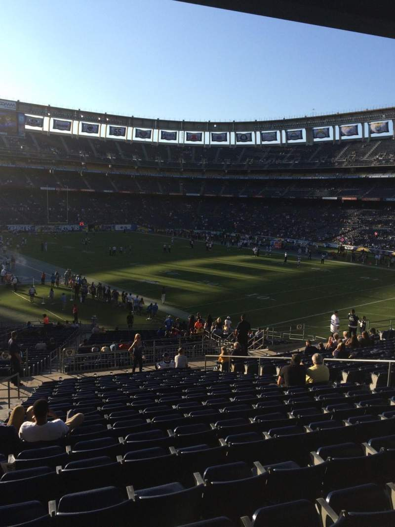 Seating view for Qualcomm Stadium Section P46 Row 18 Seat 2