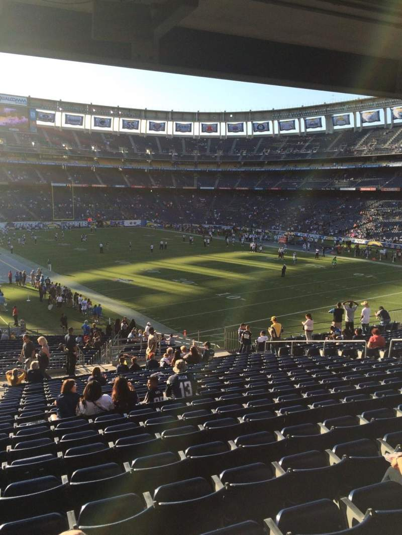 Seating view for Qualcomm Stadium Section P47 Row 19 Seat 2