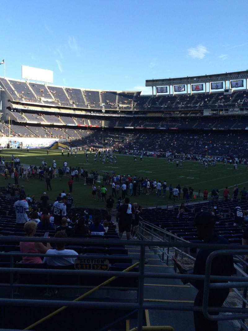 Seating view for Qualcomm Stadium Section P13 Row 1 Seat 27