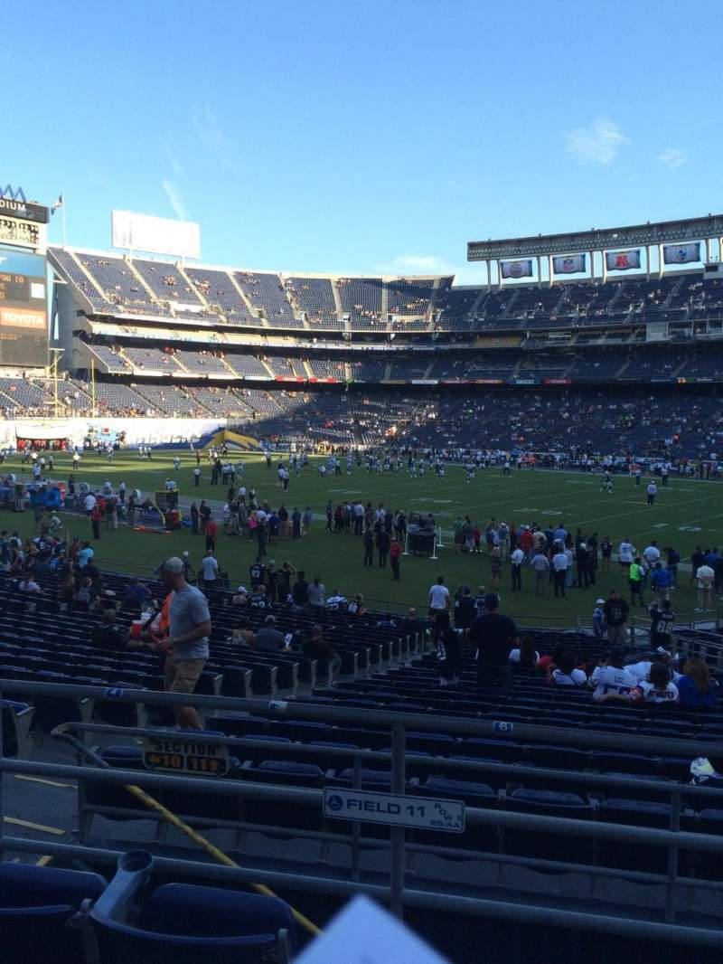 Seating view for Qualcomm Stadium Section P12 Row 2 Seat 12