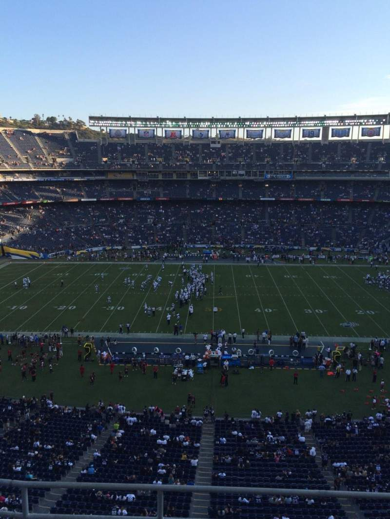 Seating view for Qualcomm Stadium Section V6 Row 4 Seat 1