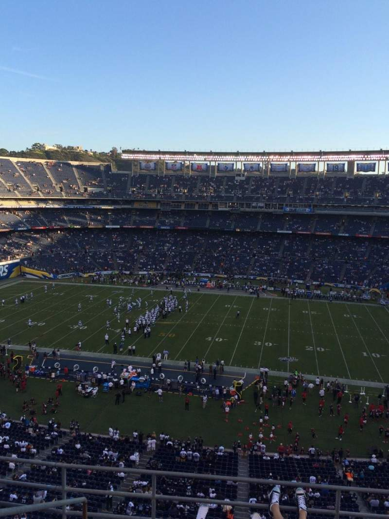 Seating view for Qualcomm Stadium Section V8 Row 5 Seat 14