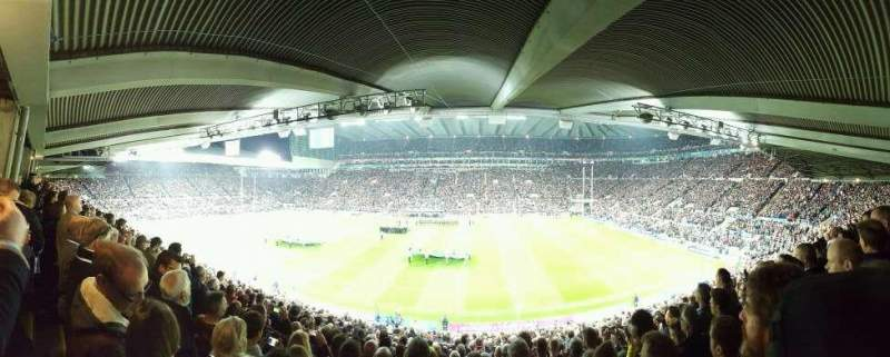 Seating view for St James' Park Section I Row U Seat 47