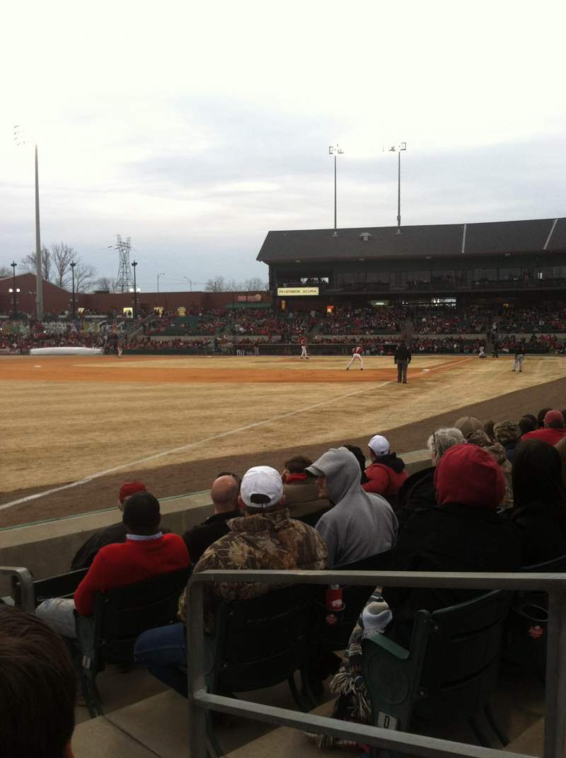 Seating view for Dickey-Stephens Park Section 118 Row F Seat 2