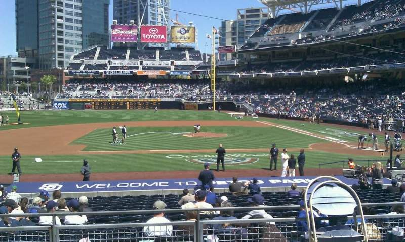 Seating view for PETCO Park Section 108 Row 26 Seat 18